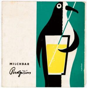 """Speisekarte der Milchbar """"Pinguin"""""""